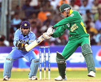 One Day International Cricket Action - South Africa vs India